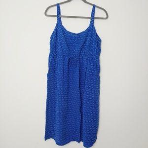 Torrid Blue Sundress with white dot triangle print